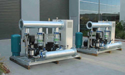 End suction pumps with VMS jockey pumps and MPV controller (twin sets)